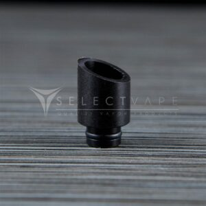 Slanted Polycarbonate Black Wide Bore Drip Tip 1