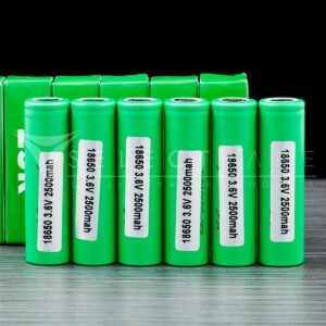 Samsung Green 25r 18650 Batteries (6 Pack) 1