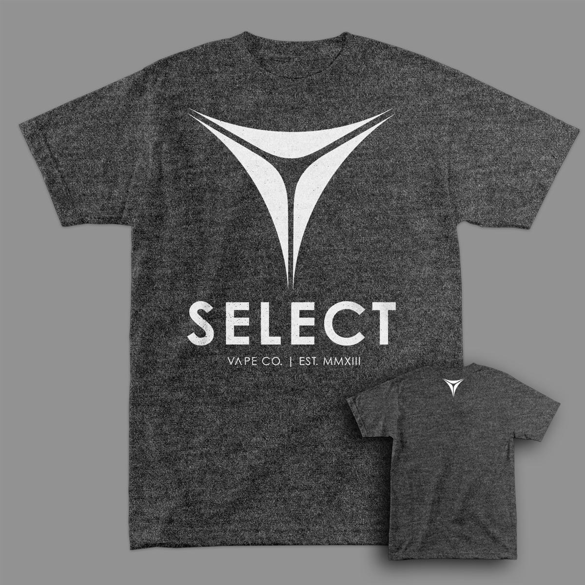 "Select Vape ""Tri-Point"" Heather Gray T-shirt"